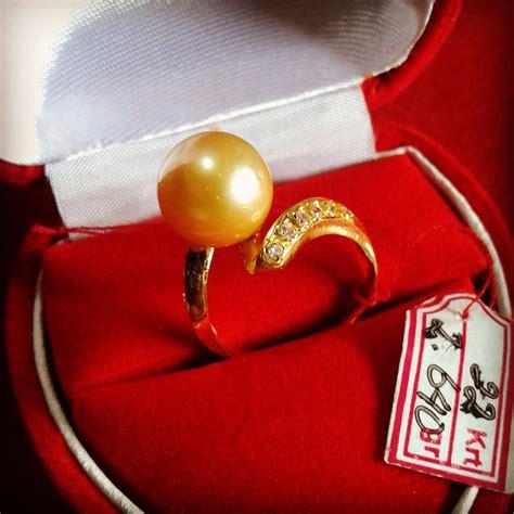 Mutiara Asli Lombok Flower Ring handmade gold ring with south sea pearl cez 53 harga mutiara lombok perhiasan toko emas