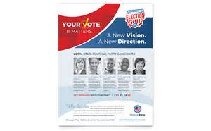 election flyers templates free election flyer template design