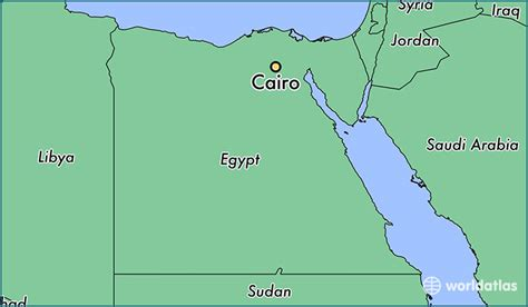 middle east map cairo where is cairo where is cairo located in