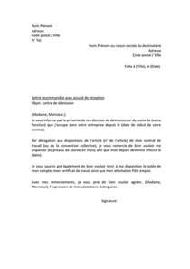 Exemple De Lettre De Démission Exemple De Lettre De D 233 Mission Doc Pdf Page 1 Sur 1