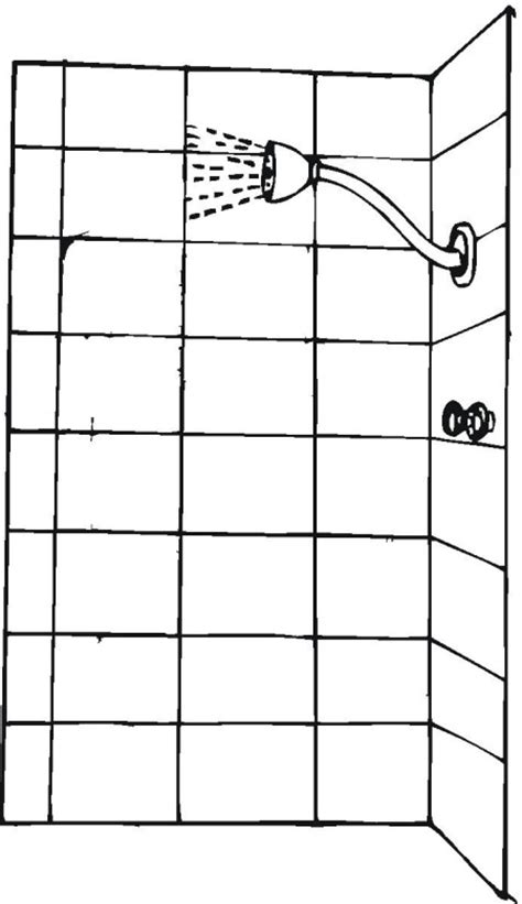 Page Shower by Free Household Coloring Pages