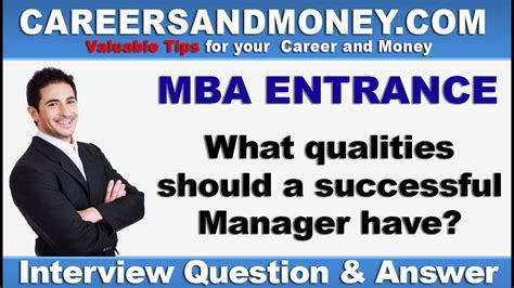 Mba Qualities by What Qualities Should A Successful Manager Mba