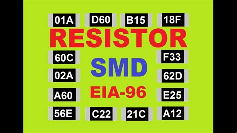 smd resistor code eia 96 how to read smd resistance codes and identify default value and eia 96
