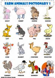 farm animals esl printable worksheets and exercises
