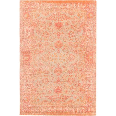 bright orange area rug artistic weavers ambrose bright orange 8 ft x 10 ft area rug s00151094354 the home depot
