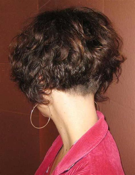 the swing short hairstyle short n the back and long in te frlnt at a angle best 20 curly stacked bobs ideas on pinterest