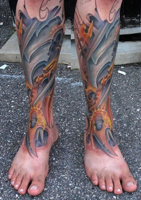 lower leg sleeve tattoo designs lower leg sleeve jon glahn bio organic