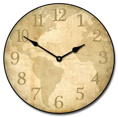 27 best world map clocks images on world maps wall clocks and big wall clocks