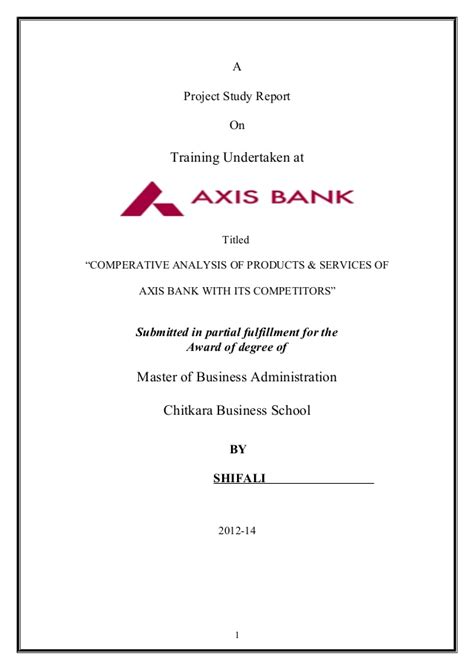 Axis Bank Letter Of Credit Axis Bank Project