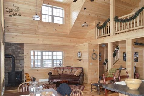 wooden mountaineer deluxe interior cozy cabins llc