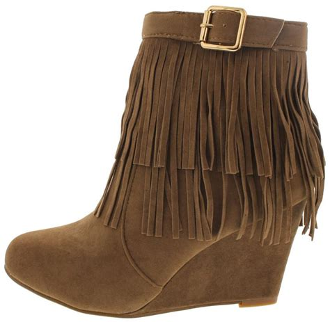 Boots Wedges 88 helpful82 light brown fringe wedge boots from 12 88 27 88