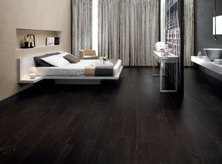 Braunes Wohnzimmer 4940 by Etic Ebano Wood Inspired Porcelain Tiles Contemporary