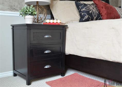 1 drawer nightstand plans 3 drawer nightstand buildsomething