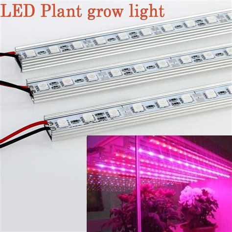 12v dc led grow lights 10pcs lot 0 5m 12v dc 10w led grow light strip for