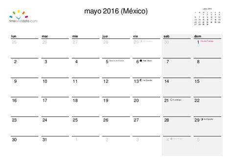 almanaque mayo 2016 calendario 2016