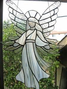 stained glass angel glass sun catcher ornaments and