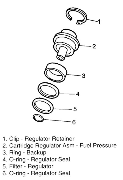 Where is the fuel pressure regulator located on a 1998