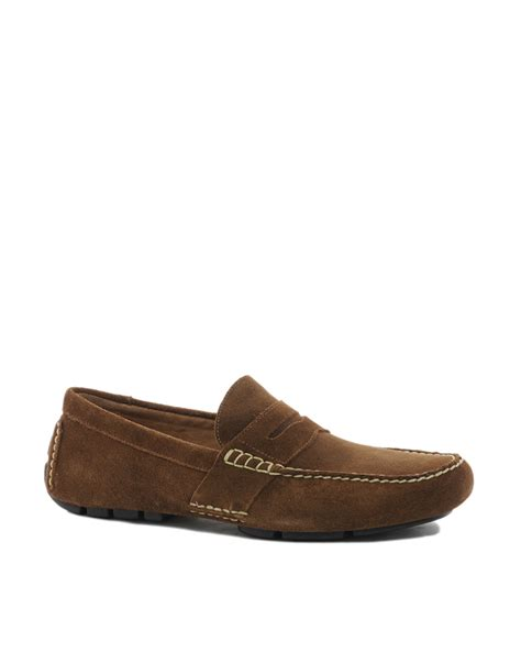 polo ralph loafers polo ralph telly suede loafers in brown for