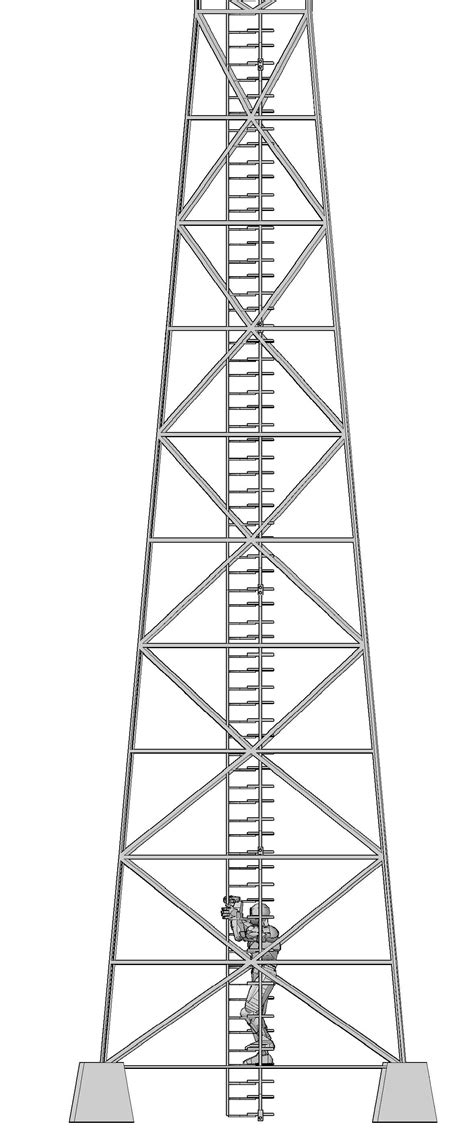 design brief of a cell phone tower vertical stairway