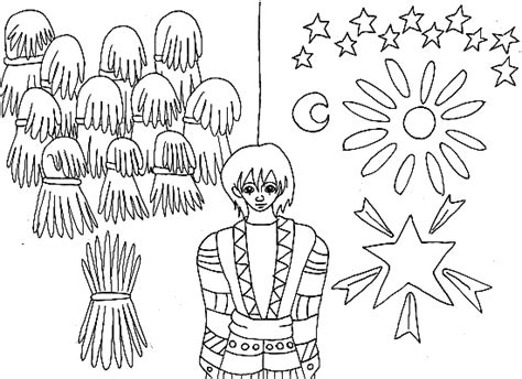 joseph dreams coloring pages coloring pages