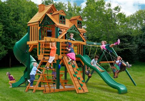 outdoor swing set accessories wonderful big backyard playsets ideas the wooden houses