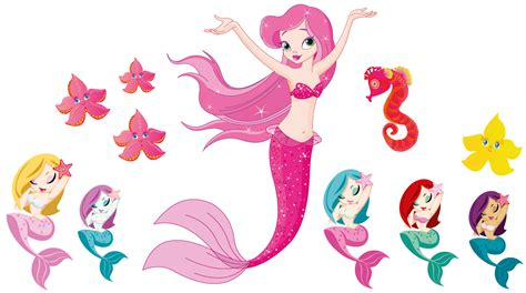 Little Mermaid Wall Stickers mermaids wall sticker totally movable and reusable