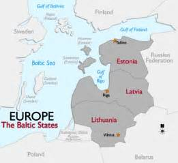 Baltic States Map by Europe Bodies Of Water Map