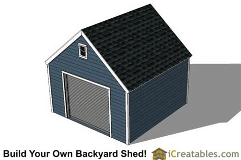 14x14 Shed Plans by 14x14 Garage Shed Plans Icreatables