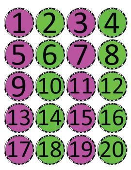 printable numbers on circles numbers 1 20 zebra print circles school ideas pinterest