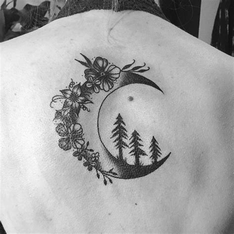 flowers and trees on the moon tattoo venice tattoo art