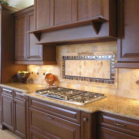 Kitchen Backsplash Ideas With Brown Cabinets Patterned Kitchen Backsplash Designs With Brown Kitchen