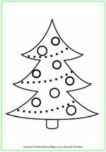 simple christmas tree outline christmas tree