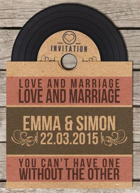 vinyl cd wedding invitations vinyl retro vintage cd wedding invitation 2568928 weddbook
