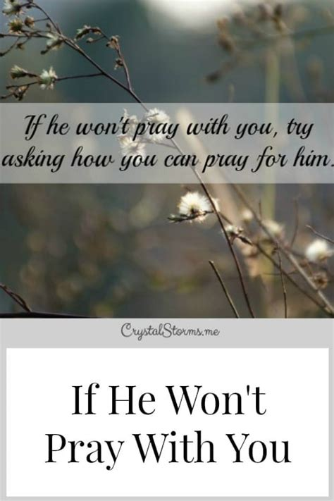 won t pray books if he won t pray with you storms