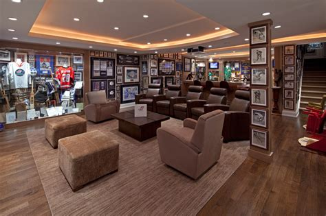 sports room forest hill home traditional home theater toronto