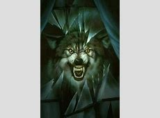 Angry Wolf Wallpaper on WallpaperGet.com Growling Black Wolf With Yellow Eyes