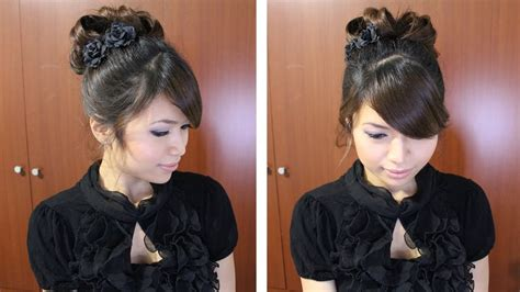 hair styles for a run classic prom hairstyle updo pin curly hair tutorial youtube