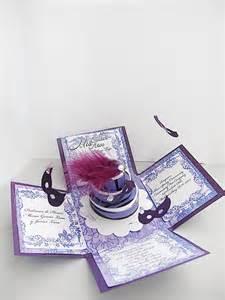 Handmade Masquerade Invitations - masquerade invitations exploding box quinceaneras