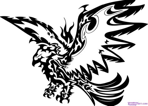 tattoo designs step by step that will end this tutorial on how to draw a tribal eagle