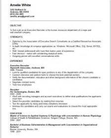 Executive recruiter Resume Example   Free templates collection
