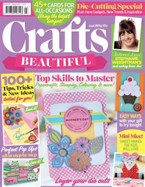 craft magazines for crafts beautiful march 2016 issue 290 template pack free
