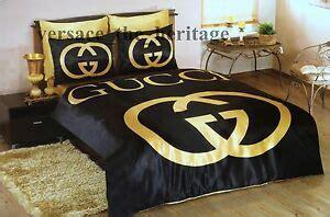 edredon gucci conjunto de ropa de cama gucci reina black gold satin