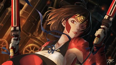 wallpaper mumei koutetsujou  kabaneri guns short hair