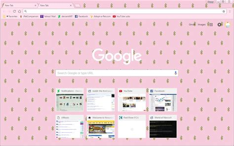 cute themes chrome cute cactus pink google chrome theme by sleepy stardust