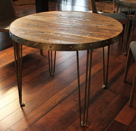 Pottery Barn Denver Co Reclaimed Wood Round Table Industrial Denver By Jw