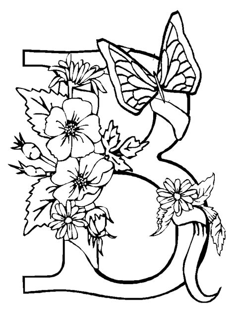 Coloring Pages Of Butterflies And Flowers | butterflies coloring pages coloring pages to print