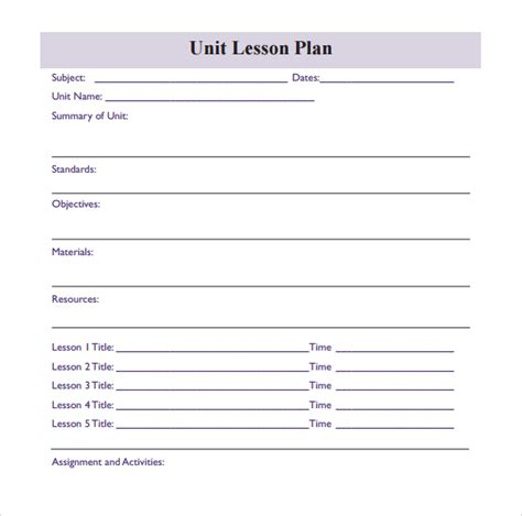 printable unit lesson plan template search results for printable lesson plan calendar 2015