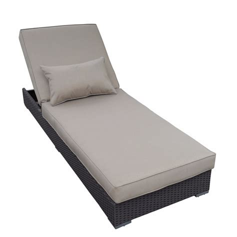 chaise lounge pillow abba patio outdoor rattan wicker adjustable pool patio