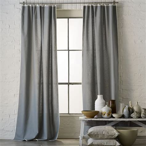 narrow window curtains narrow frame curtain feather gray ivory west elm