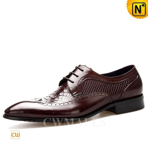 embossed leather shoes cwmalls 174 embossed leather dress oxfords cw716025